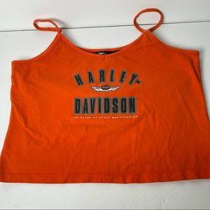 Vintage 2002 Harley Davidson crop tank shelf bra